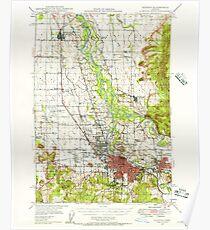 USGS Topo Map Oregon Eugene 282483 1946 62500 Poster