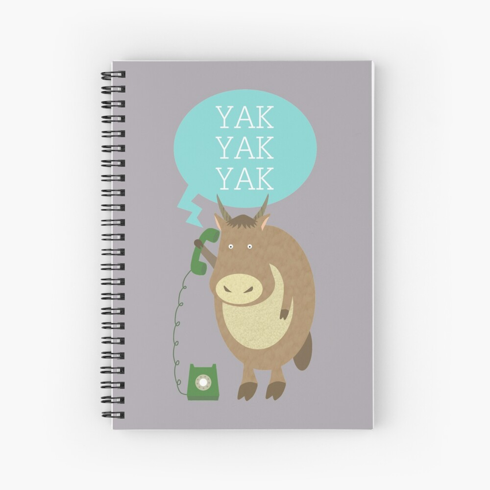Yak on the Phone Spiral Notebook