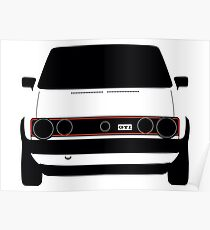 VW Golf GTI mk1 - Silhouette Poster