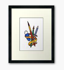 Love Drawing Framed Print