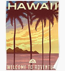 Welcome to Adventure - Hawaii Poster