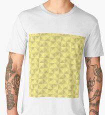 Shades of Yellow Geometric Pattern Men's Premium T-Shirt