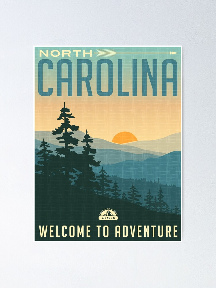 Alternate view of Welcome to Adventure - North Carolina Poster