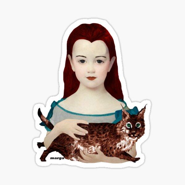 Charito and his cat Sticker