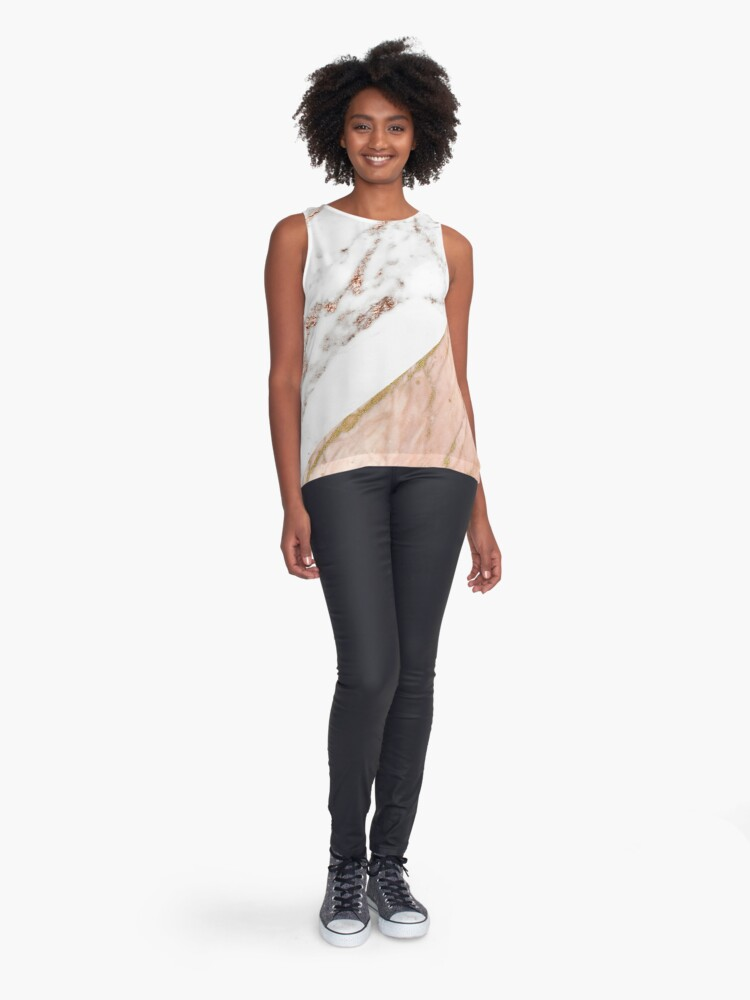 Alternate view of Rose gold marble blended Sleeveless Top