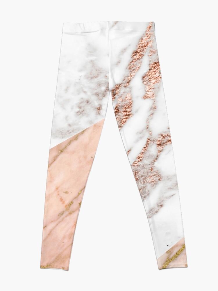 Alternate view of Rose gold marble blended Leggings