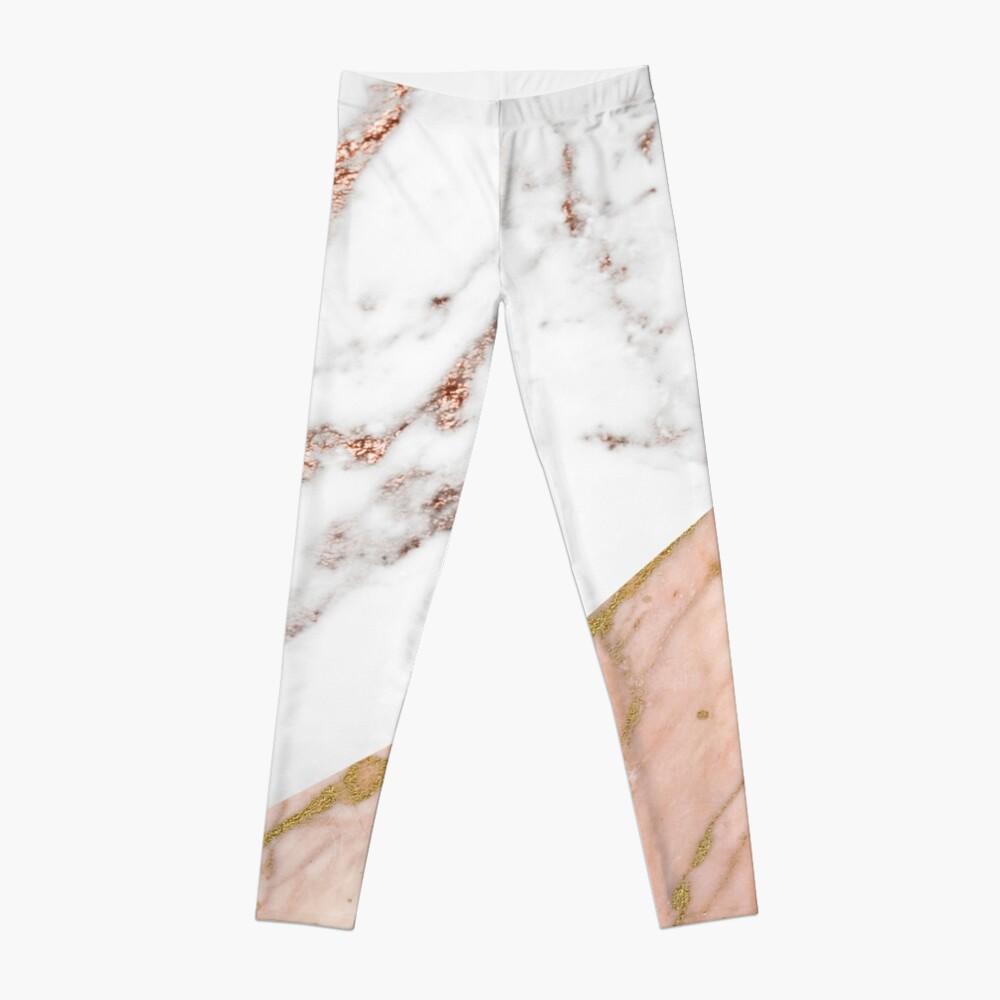 Rose gold marble blended Leggings