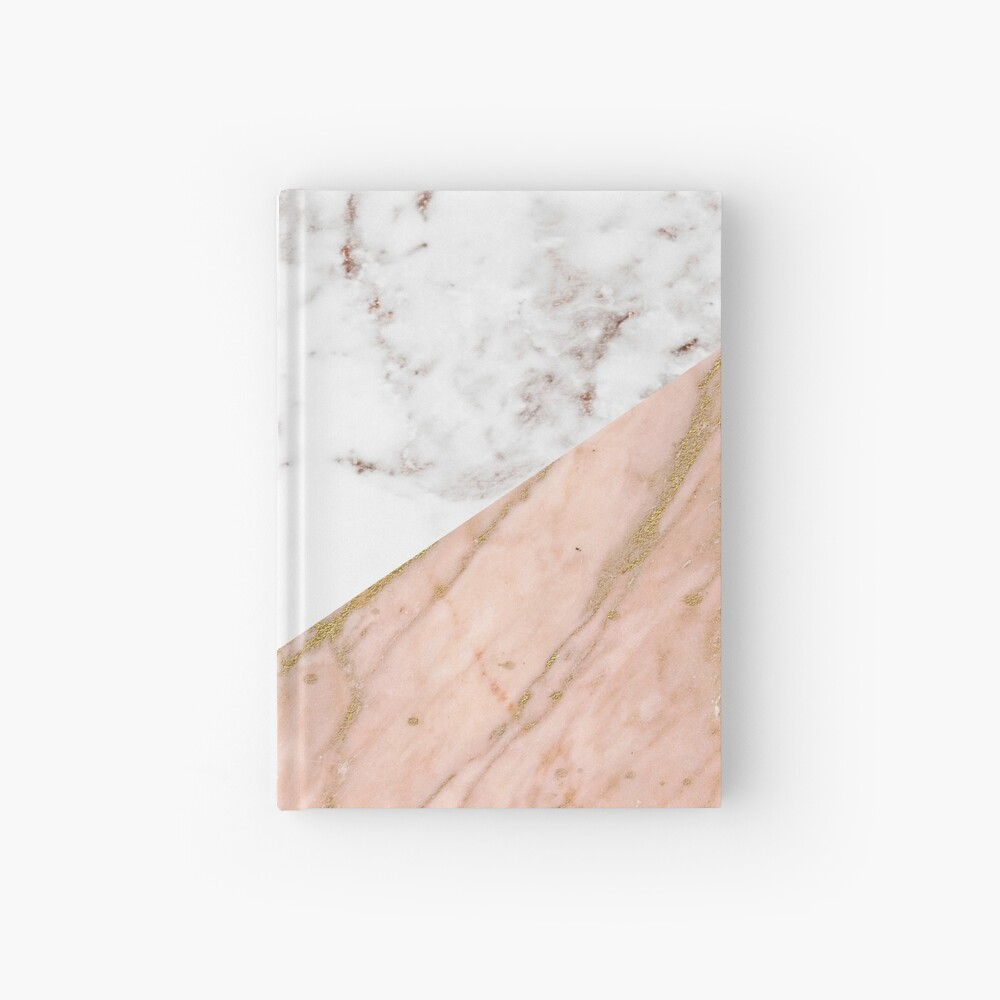 Rose gold marble blended Hardcover Journal