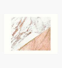 Rose Gold Marmor gemischt Kunstdruck