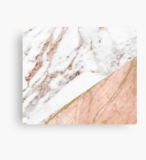 Rose gold marble blended Canvas Print