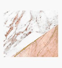 Rose Gold Marmor gemischt Fotodruck