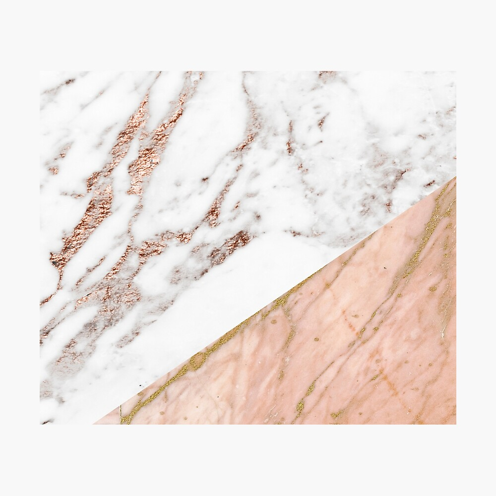 Rose gold marble blended Photographic Print