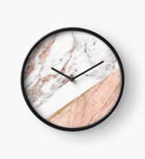 Rose gold marble blended Clock