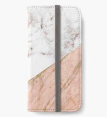 Rose gold marble blended iPhone Wallet/Case/Skin