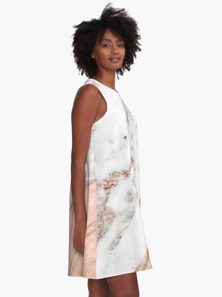 Alternate view of Rose gold marble blended A-Line Dress