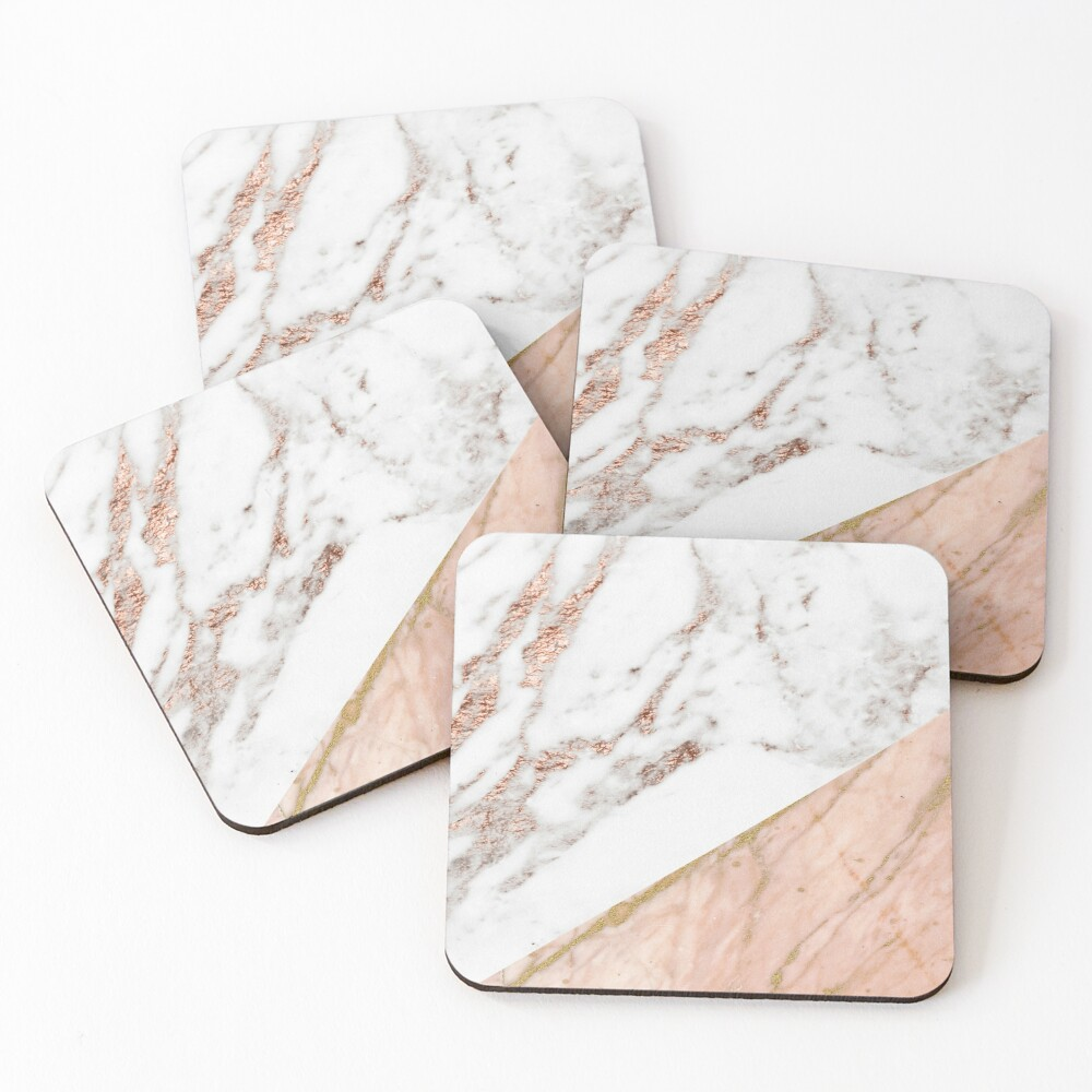 Rose gold marble blended Coasters (Set of 4)