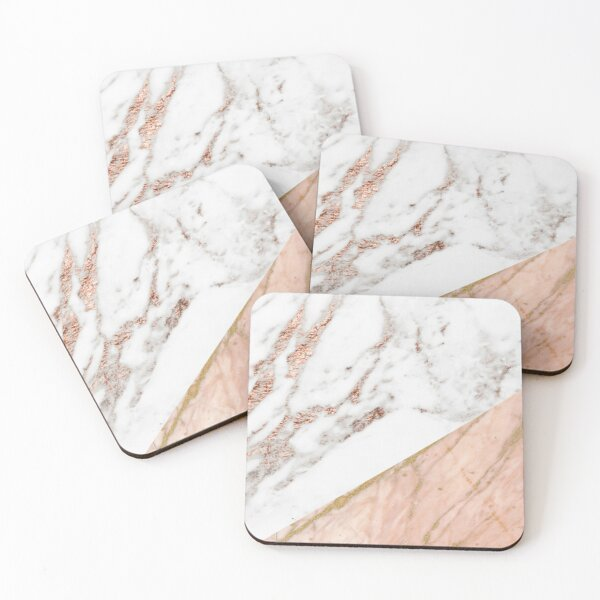 Rose gold marble blended Coasters (Set of 4)