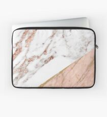 Rose gold marble blended Laptop Sleeve