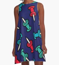 Map Tack Pattern A-Line Dress