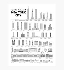 Splendid Structures of NYC Photographic Print