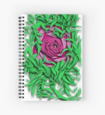 The Eye Deep within the rose Spiral Notebook