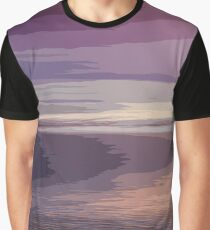 Abstract Sunset Graphic T-Shirt