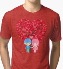 under the tree of love Tri-blend T-Shirt
