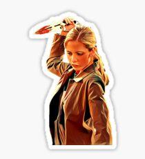 'Buffy in Black' by JACKASH Sticker