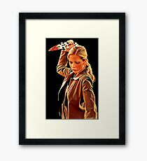'Buffy in Black' by JACKASH Framed Print