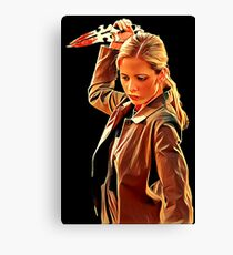 'Buffy in Black' by JACKASH Canvas Print