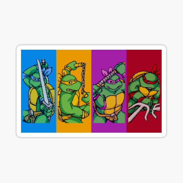 TMNT Rainbow, Pixel Arcade Edition Sticker