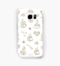 tea time warm taupe on white background Samsung Galaxy Case/Skin