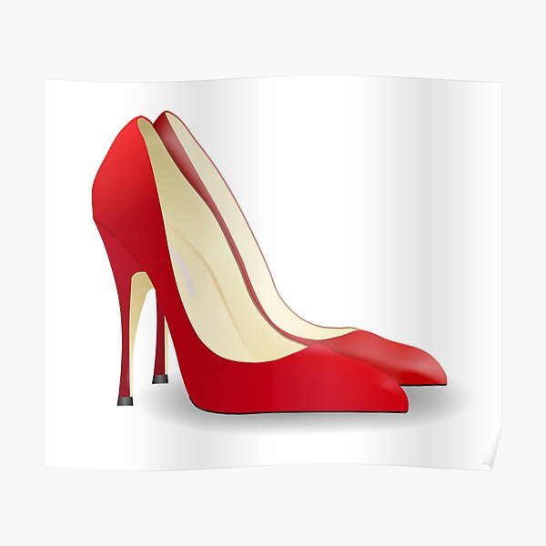 High Heels. Heels, Shoes, Pumps, Stilettos, Red. Poster