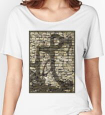 BICYCLE SHADOW: Modern Art Print Women's Relaxed Fit T-Shirt