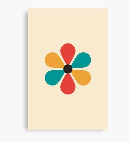 Flor de color retro vintage de mediados del siglo Lienzo