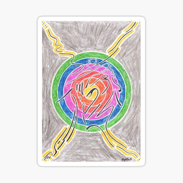 2007 - Mystic Sign Before Rainbow Sphere Sticker