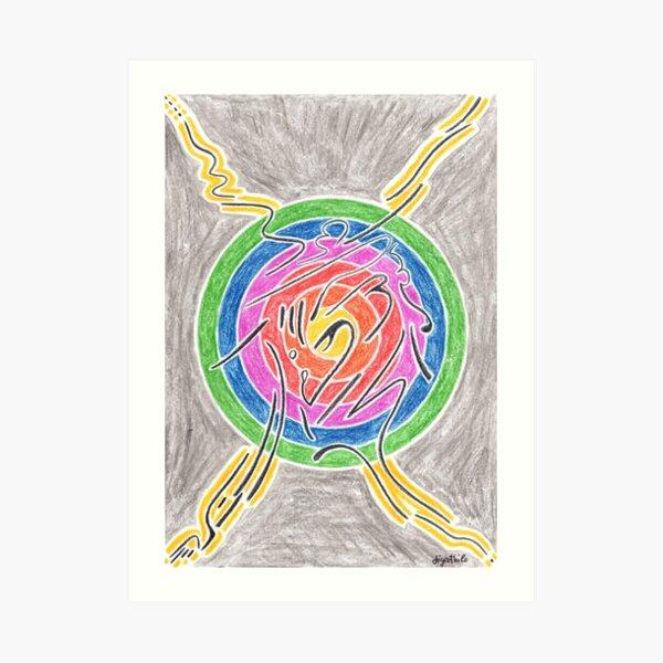 2007 - Mystic Sign Before Rainbow Sphere Kunstdruck