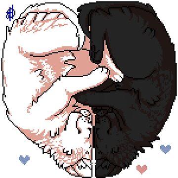 Kitten Cuddles in Pixel by Muqadas