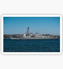 USS Howard transits the San Diego Bay. Sticker