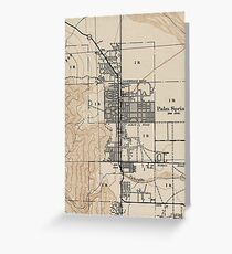 Vintage Map of Palm Springs California (1942) Greeting Card
