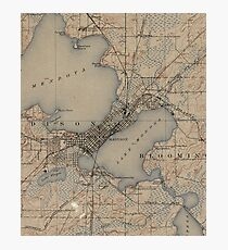 Vintage Map of Madison Wisconsin (1904) Photographic Print