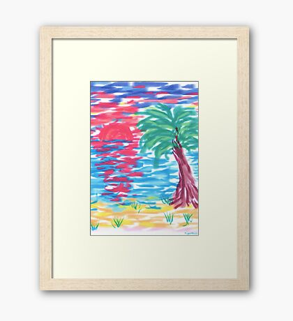 1504 - Palm Beach Sunset Gerahmtes Wandbild