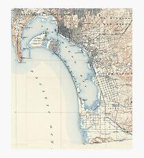 Vintage Map of San Diego California (1902) Photographic Print