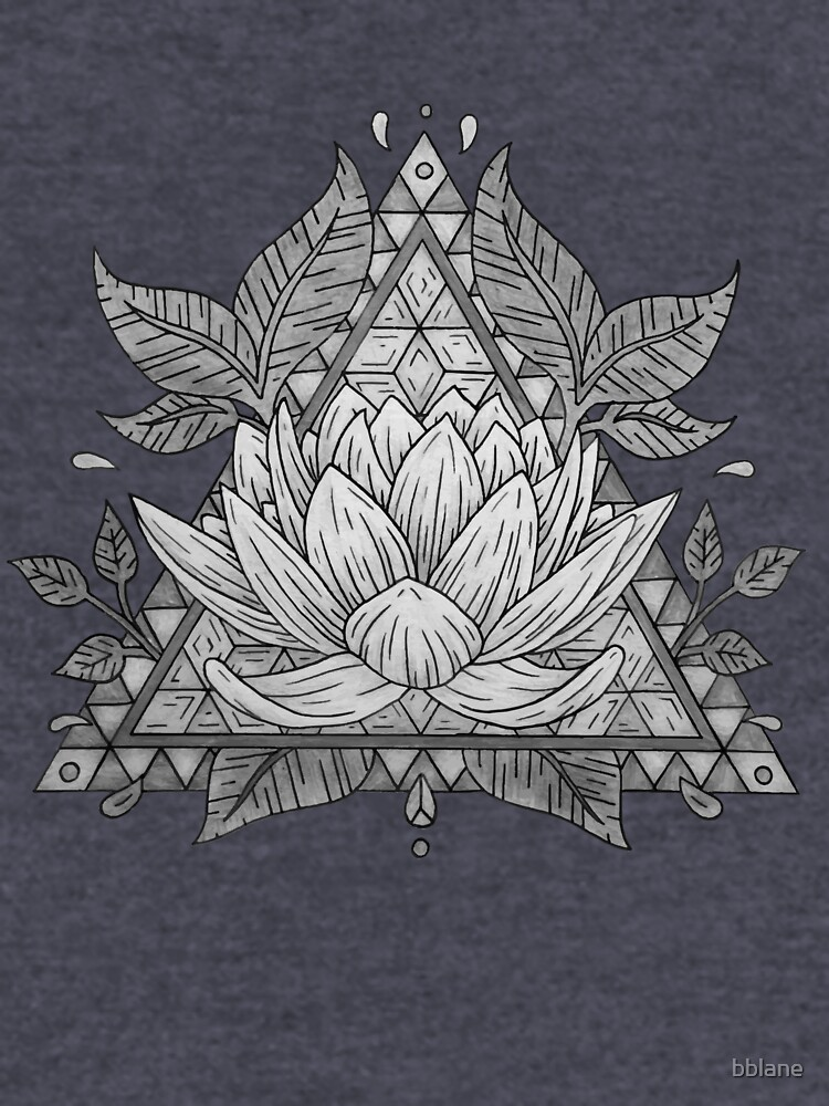 Grauer Lotus Flower Geometric Design von bblane