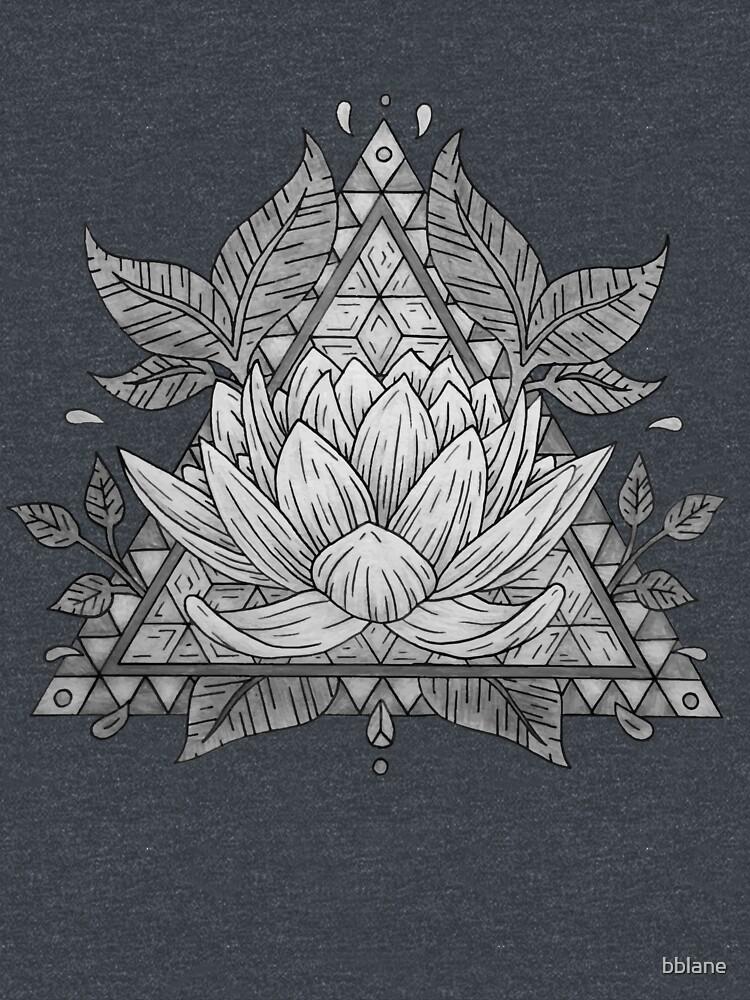 Grey Lotus Flower Geometric Design by bblane