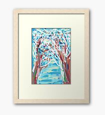 1512 - Sunny Winterday In The Forest Framed Print