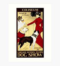 Chicago dog show, vintage poster Art Print
