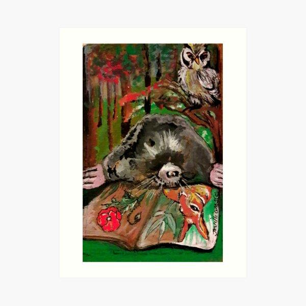 Rumpole the Mole Art Print