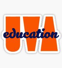 UVA education Sticker