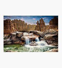 Waterfall Compilation Photographic Print